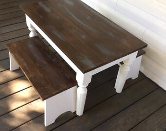 farmhouse kids table pine