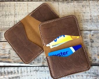 Leather minimalist wallet, Card Holder, Wallet, Everyday Carry Wallet, Slim Wallet, Bifold wallet