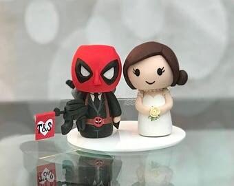 Deadpool wedding cake topper
