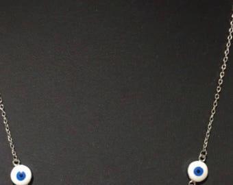 Sterling Silver Necklace, Evil Eye necklace