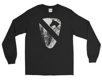 1st Cavalry Division Veteran insignia distressed Long Sleeve T-Shirt