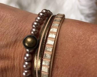 Golden double bracelet
