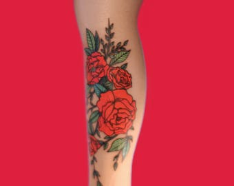 Red Roses socks Stockings