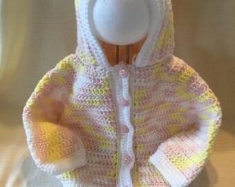 Pretty Pink Baby Sweater