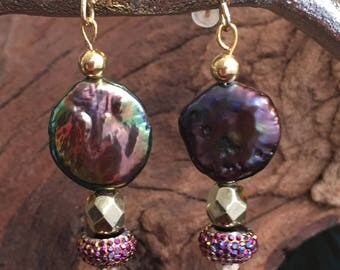 Abalone Gypsy Dangle Earrings