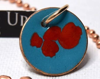 Enameled Penny Pendant Necklace-Orient Takeover