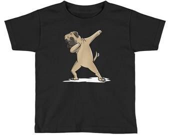 Funny Dabbing Bullmastiff Kids Short Sleeve T-Shirt