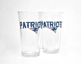 Patriots Beer Glass