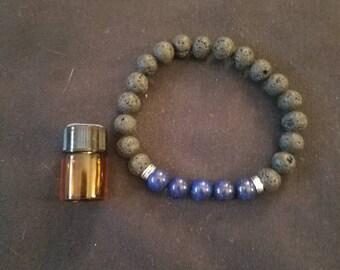 Essential oil diffuser lava rock bracelet