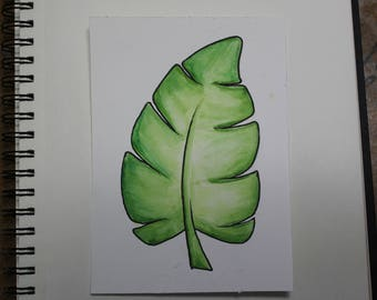 Leaf Watercolour Painting