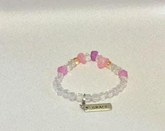 Crystal Glass Stretch Bracelet