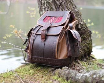Handmade Backpack, Leather Backpack, Brown Backpack, Leather Rucksack, Women Backpack, Laptop Backpack, Hipster Backpack, Vintage Backpack