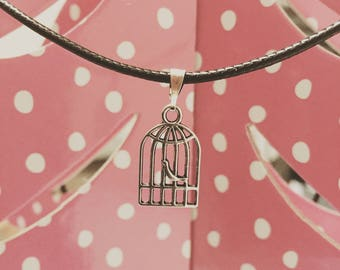 Bird in Cage Necklace