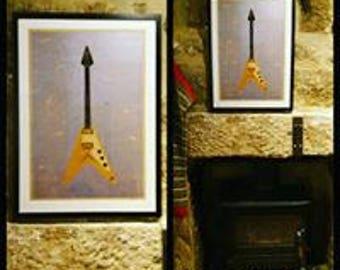 Gibson Flying V (unframed)
