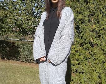 Oversized knittedCardigan,Slouchy, loose knit, long cardigan, coat.