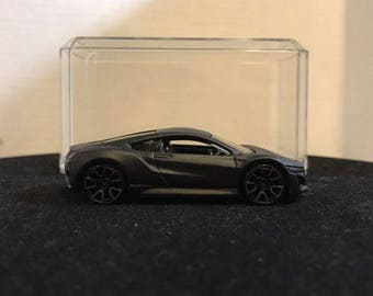 Custom Satin Hot Wheels 17 Acura Nsx Flat Black