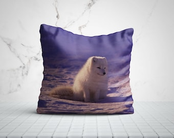 Polar Fox Best Pillow Gifts, 18x18 Throw Pillow with Fox, Fox Lover Gift, Animal Gifts For Her, Made in USA