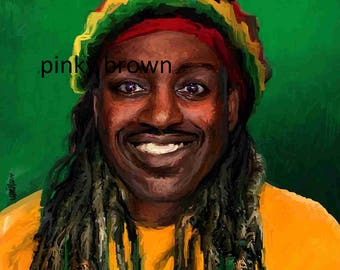 HAPPY EARTHSTRONG mi bredren birthday reggae rasta card
