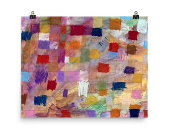 Color Grid - Beautiful Archival Cotton Rag Fine Art Giclée Print Supporting the Nonprofit Fresh Artists