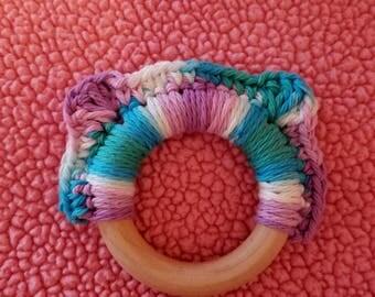 Teething Ring/Crochet Teething Ring/Crochet Teether/Baby Teether