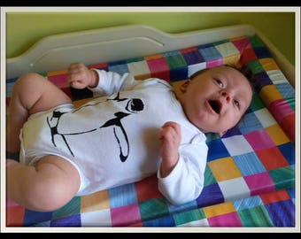 Handmade Penguin baby grow