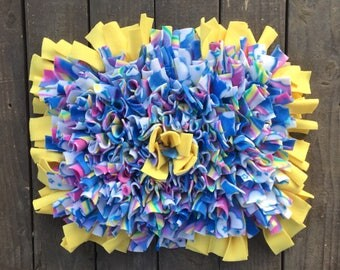 Rooting rug 18in. x 23in. Bright Colors/Yellow- rooting rug - rooting rug - rooting mat - snuffle rug - snuffle mat - mini pig toy