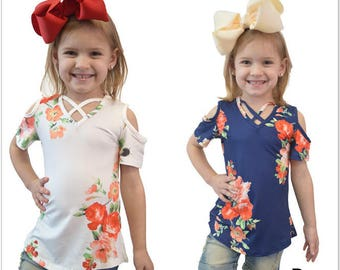 Baby Girls Kids Open Shoulder Top outfits