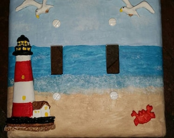 Beach / Lighthouse Light switch Covers - Double Switch