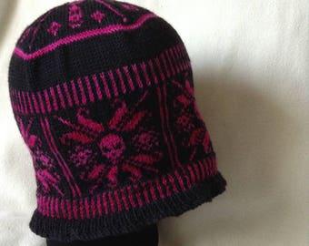 Sun skull beanie hat