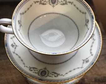 4- Noritake sutherland tea cups and saucers