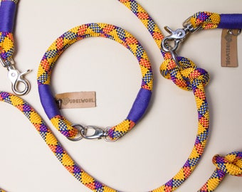 "Rudelwohl. Dew Collar ""banana""-Fixed dog collar-handmade in Berlin/leash/Tauleine/dog Leash"