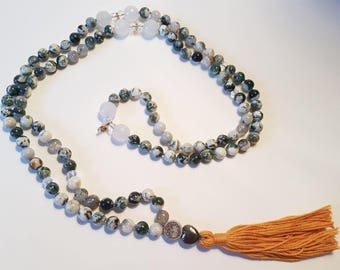 See the Beauty around mala, mala necklace, malabeads, gemstone beads mala, handmade mala, on of a kind