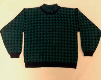 Women's Vintage 80s Nugget Collared Sweater