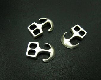 5 Anchor Clasp Hook,Clasp for Paracord,Anchor Bracelet,Connector Paracord,Clasp Paracord Silver Clasp I27