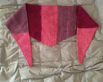 pink multicolor triangle scarf