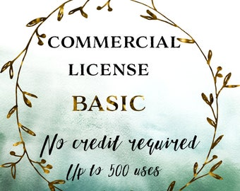 Basic Commercial License | Commercial License for Digital Clipart | Up to 500 Uses