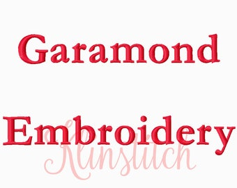 50% Sale!! Garamond Embroidery Fonts 3 Sizes Fonts BX Fonts Embroidery Designs PES Fonts Alphabets - Instant Download