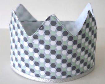 N E W | | Fabric Crown | | Grey/mint/White