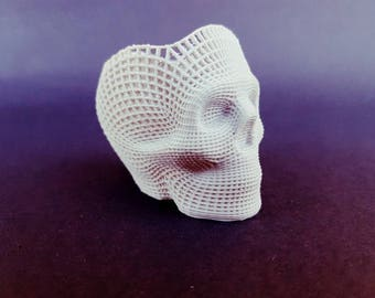 Wireframe Skull Coin Holder