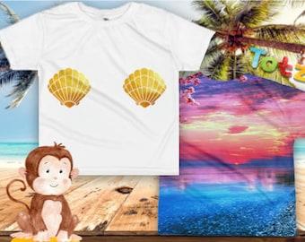 Mermaid Shell Kids T-shirt