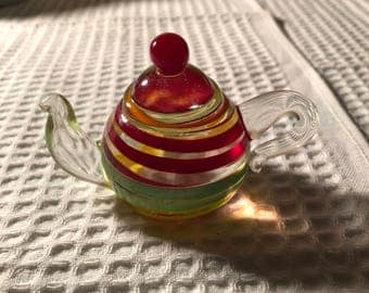Solid glass teacup by lenox