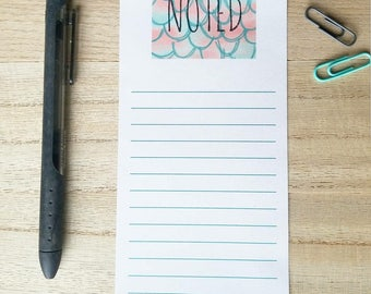 NOTED: Mermaid Scales Listpad, Notepad, To Do List