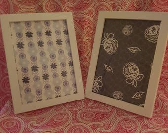 Set of 2 Navy and white frames
