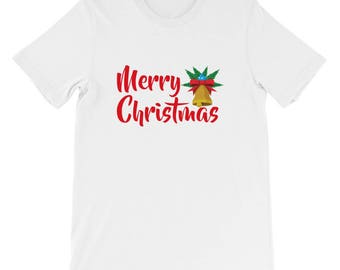 Merry Christmas Jingle Bell santa shirt Short-Sleeve Unisex T-Shirt