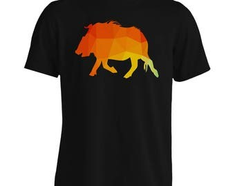 INNOGLEN Origami Triangle Wild boar Men's T-Shirt u567m