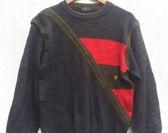 Vintage Hardy Amies Knit Sweater Medium Size