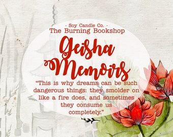 Geisha Memoirs | Memoirs of a Geisha Bookish Inspired Soy Candle