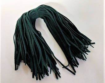 British Racing Green Wool Strips for Rug Hooking All Wool 75 Strips 18 Inches Long Hand Cut on NUmber 6 Blade