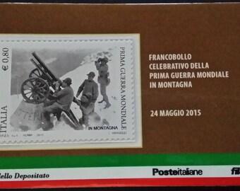 "Philatelic card ""Centenary of World War I-mountain"""