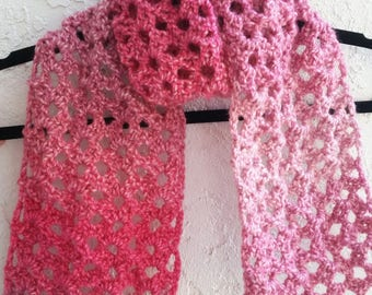 Crochet scarf/Ombre /women long scarf/handmade accessories/neck warmer.